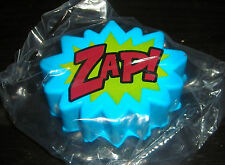"BATMAN ADAM WEST TV SHOW ZAP! BLUE & RED CARTOON FIGHTING BUBBLE 3"" STRESS BALL"
