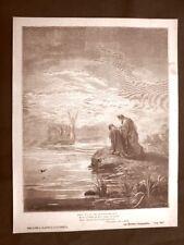 Incisione di Gustave Dorè del 1890 Dante Angelo guida Divina Commedia Purgatorio