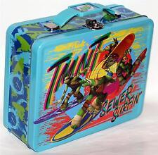 TEENAGE MUTANT NINJA TURTLES TMNT Tin Tote WORK HOBBY TOOL SNACK LUNCH BOX B New
