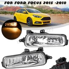 For Ford Focus 2015 2016 2017 2018 Pair Front Bumper Fog Light Lamps w/ Bulbs
