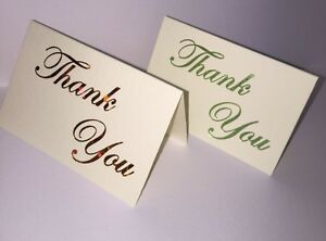 Thank you foiled luxury small cards with envelopes pack of 5