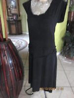 MOSSIMO! BLACK LONG WASTED! BLACK DRESS!>SIZE S>POLY RAYON SPANDEX>