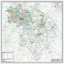 WARWICKSHIRE & WEST MIDLANDS. COUNTY WALL MAP. Map Scale 1:100,000