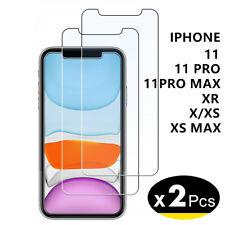 Vitre verre trempé iPhone 11/11 Pro Max/XS/X/XR Protection Film écran [2 Pièces]