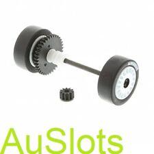 Scalextric W9263 SKODA FABIA Rear Wheel Assembly Pinion E.g C2645
