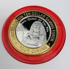 New Listing2009 S Four 4 Queens Casino Silver Strike $10 Cleopatra Red Capsule Token 7Fqc13