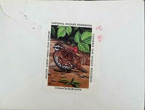 USA 1982 N.W.F. Common Bobwhite STAMP ON 1984 COVER SENT FROM S.C. TO GERMANY