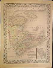 1874 COUNTY MAP OF NOVA SCOTIA,NEW BRUNSWICK,CAPE BRENTON & PRINCE EDWARD ISLAND