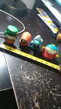 Lot Of 4 South Park Figures, Kyle, Cartman, Kenny, Great For Desk Free Shipping