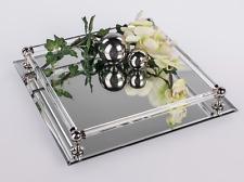 Tischspiegel Spiegeltablett DEKO Spiegel 30x30cm rechteckig Glas Formano