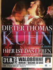 DIETER THOMAS KUHN 2013 BERLIN - orig.Concert Poster - Konzert Plakat A1 F/U