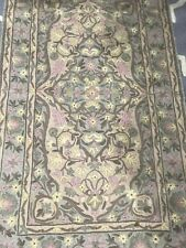 anthropologie Flat Embroidry  Rug 55x30 Inches