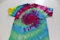 Alstyle Tie Dye Groovy Hippie TEE T SHIRT Large L