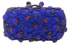 Royal Blue Teschio Di Cristallo Pochette Borsetta Gotico Borsa Natale