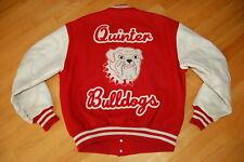 Vintage QUINTER High School BULLDOGS Hip Hop Varsity LETTERMAN Jacket Size L