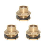 """3PCS 3/4"""" Water Tank Hose Connector Cistern Pipe Fittings Joiner DN20 Thread"""