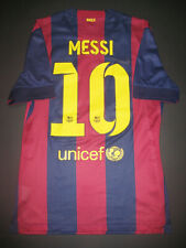 2014-2015 Nike Authentic FC Barcelona Jersey Shirt Lionel Messi Match Argentina
