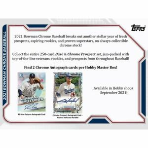 2021 BOWMAN CHROME BASEBALL FACTORY SEALED HOBBY BOX - PRE SALE -