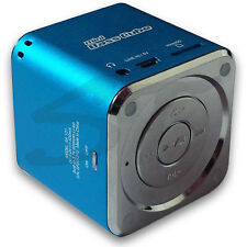 SA-101 BT JAY-tech Mini Bass Cube Bluetooth Lautsprecher blau Mp3 Player Akku