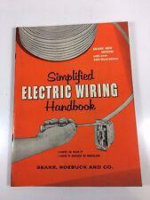 Simplified Electric Wiring book Sears Roebucks 1960 Vintage