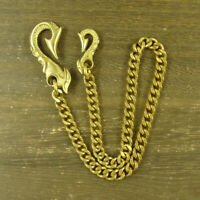 Solid Brass Bag Wallet Chain Fob Key Chain Holder Keychains