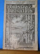 Forestry and Irrigation 1904 January Winter Logging Yale Forest School Alaskan F