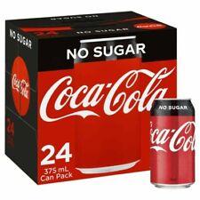 Coca-Cola No Sugar 375ml Cans - 24 Pieces