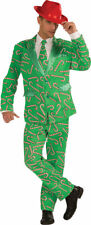 Morris Costumes Men's Long Sleeve Christmas Candy Cane Suit Green XL. FM72642