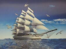 Poster Print 3d picture of the Sail Upwind, great for Home Decoration L042