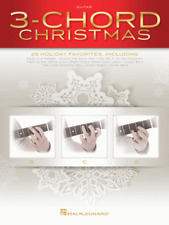 3-Chord Christmas (G-C-D) SONGBOOK-GUITAR MUSIC BOOK-BRAND NEW ON SALE-25 SONGS!