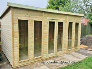 SUMMER HOUSE SHED GARDEN OFFICE LOG CABIN MAN CAVE LEAD TIME 10-14 WEEKS