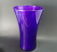 "9"" Royal Purple Glass Vase ~ Shimmering Iridesent Purple Encase In Clear ~ NICE!"