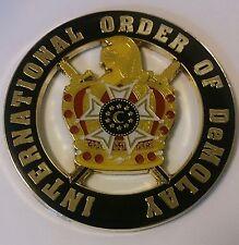 International Order of DeMolay Car Emblem Masonic Family Gold/Black
