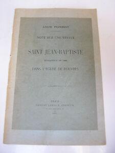 Poinssot  Note sur une statue de SAINT JEAN-BAPTISTE de l'église de ROUVRES 1899