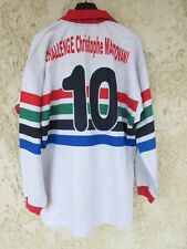 Maillot rugby M.P.S XV porté n°10 vintage Challenge Christophe MANTOVANI XL