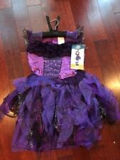 Girls size Large 9 10 11 Witch Purple Black Halloween Costume New