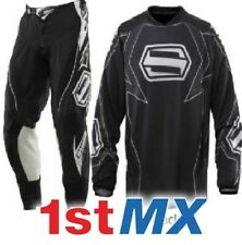 Shift Racing Strike Black White Motocross Off Road Race Kit Gear Adult 28 Small