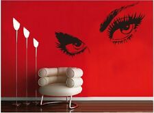 Wall Stickers Home Decor Vinyl Art Decal Mural Ladies Eyes Glam