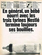 PUBLICITE  1966   NESTLE  farines bouillies bébé