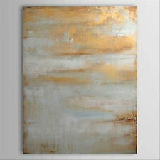 Hand-painted Large Modern Abstract Art Canvas Oil Painting Wall Art Grey golden