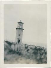 France, Brest, le Phare  Vintage silver print Tirage argentique  7.5X10