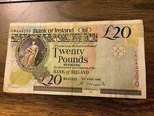 Bank of Ireland £20 Twenty Pounds Banknotes Belfast / CM444290.