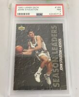John Stockton 1993 Upper Deck Assist Season Leaders #168 Psa 7 Utah Jazz Low Pop