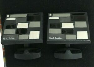 Paul Smith Blk/Wht/Gry Brick Wall Cufflinks