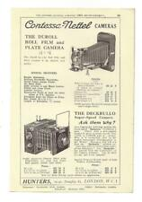 A 1925 Photgraphic/Camera Advertisment - Contessa Nettel Cameras.