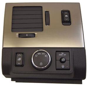2008-09 Hummer H2/SUT Headlight Switch Bezel LH Vent New Black W/Bronze 25861046