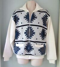 NWT Scandia Woods Thermal Lined Sweater Jacket Zipper Navajo Ivory Mens Large