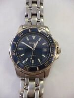 REGENCY QUARTZ WATCH WITH DAZZLING BLUE FACE SILVER BAND WORKING!