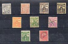 Ex Colonias francesas Tunez valores de tasas del año 1901-45 (CZ-110)