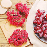 40X Mini Christmas Foam Frosted Fruit Artificial Holly Berry Flower Home Decor d